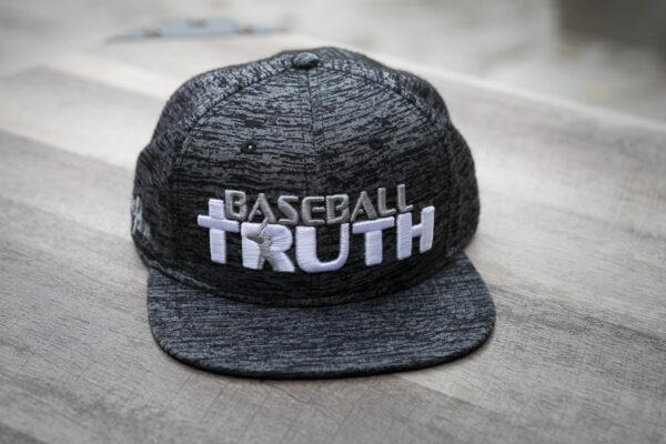 Baseball Truth Black Heather Snap Back Hat