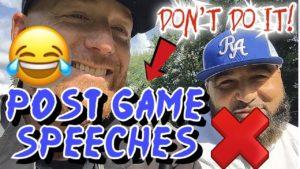 Post Game Speeches