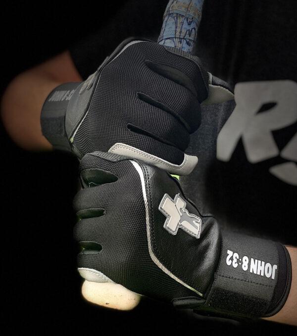 Black Baseball Truth Batting Gloves