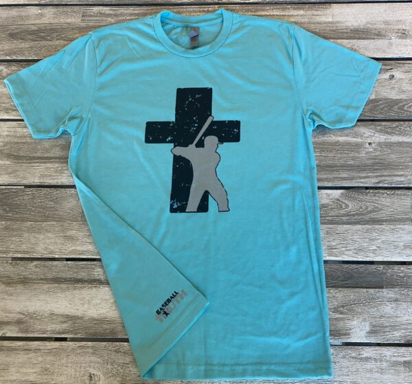 Baseball Truth Logo Tahiti Blue T-shirt