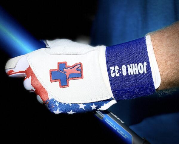 White Baseball Truth Batting Gloves USA Model