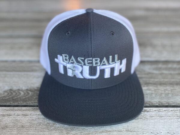 Baseball Truth Mesh Snapback Hat Grey/White