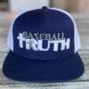 Baseball Truth Mesh Snapback Hat Navy/White
