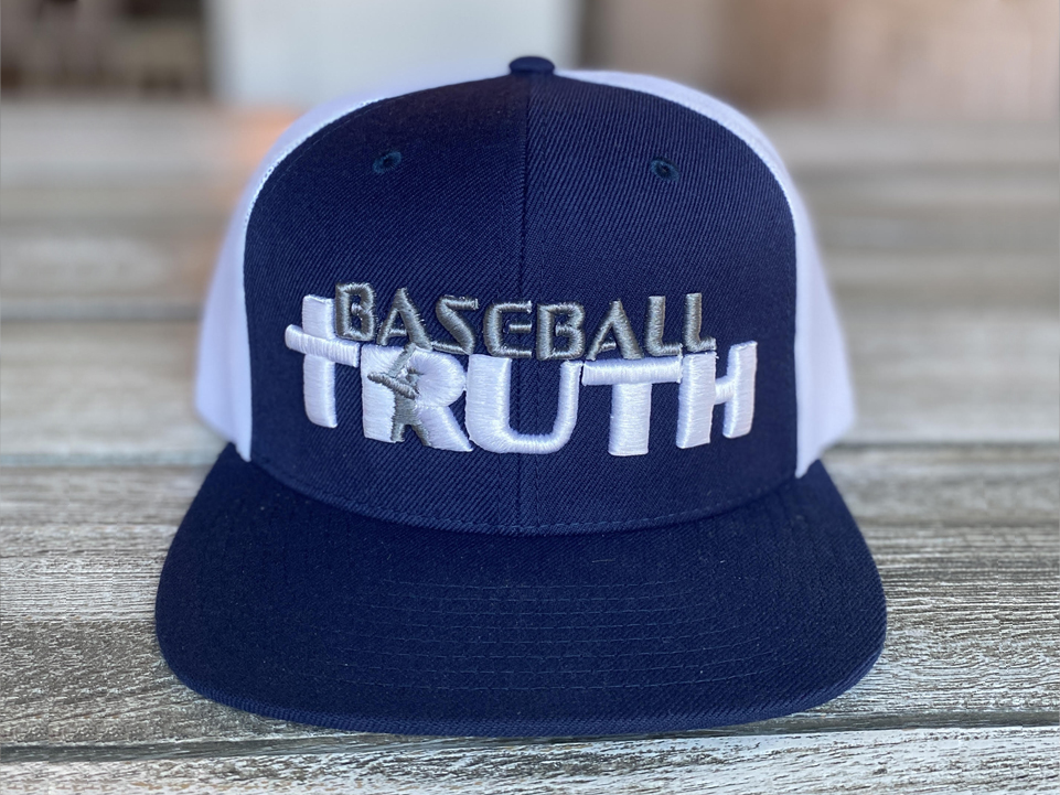 Baseball Truth Mesh Snapback Hat Navy/White